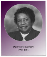 As president, Soror Montgomery oversaw the 1984 Jabberwock and the initiation of 12 new members.