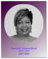During Soror Sermon-Boyds administrations, the 1975 and 2008 Jabberwocks occurred, financial aid workshops were held, and the 2007 Teacher Education Project began.  Soror Sermon-Boyd served as South Atlantic Regional Director from 1978-1982.