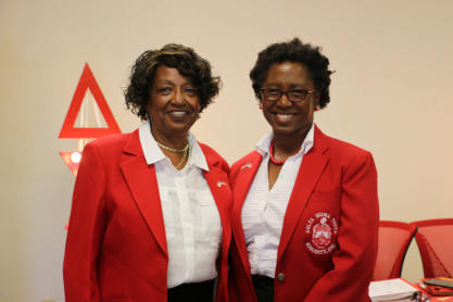 Vivian Dudley and Angela McCoy-Speight